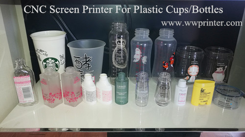 screen printing machine for plastic cups,bottles