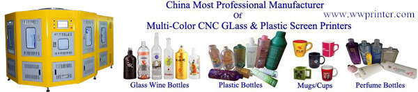glass bottle/container screen printing machine