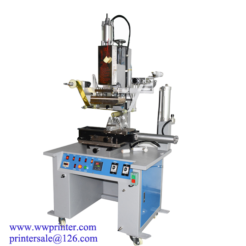 Manual Hot stamping machine for plastic bottles