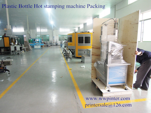 Plastic bottle hot stamping machine packing