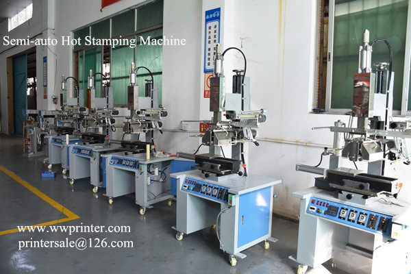 Semi automatic hot stamping machine for glass bottles