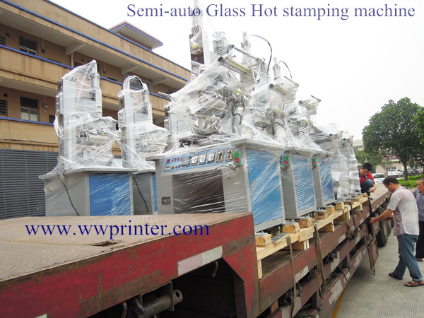 China Factory sending glass bottle hot stamping machines