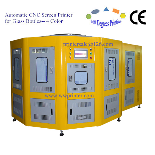 5 color rotary UV screen printing machine for bottles