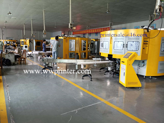 Rotary Glass Bottle Screen Printing with Hot stamping machine