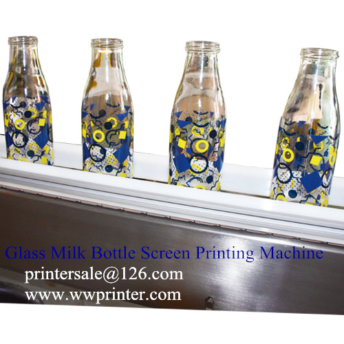 Milk Bottle Printing machine,Silk Screen Printing machine on Glass Milk Bottles,Glass Bottle Screen Decoration