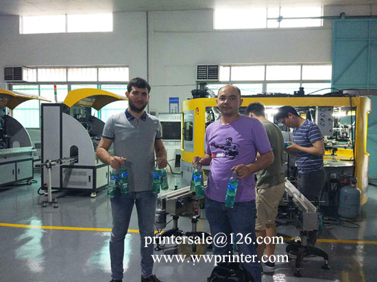 5 color glass Bottle  screen printing machine,360 degrees printing