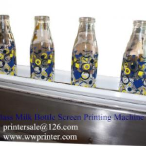 Milk Bottle Printing machine/Glass Bottle Screen Decoration