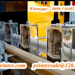 Glass Bottle Screen Printer With Labeling Machine