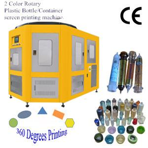 2 Color Rotary Plastic Bottle/Container Screen Decoration Machine