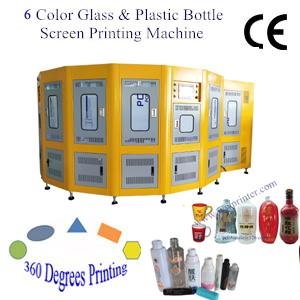 6 Color CNC Glass Bottle Screen Printer