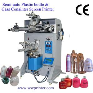 Semi-auto Glass Bottle Screen Printer Machine